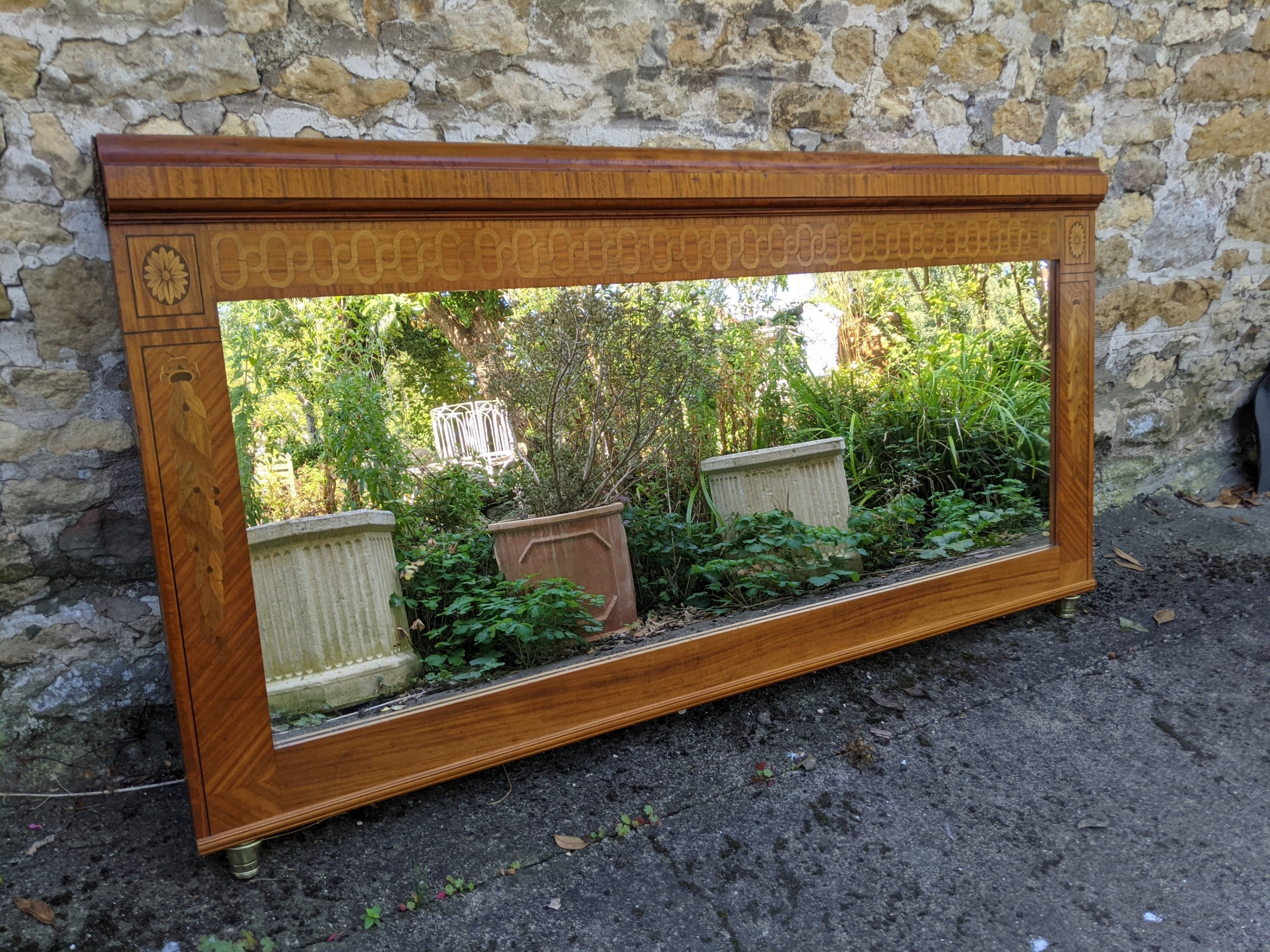 early 20th century large overmantle mirror