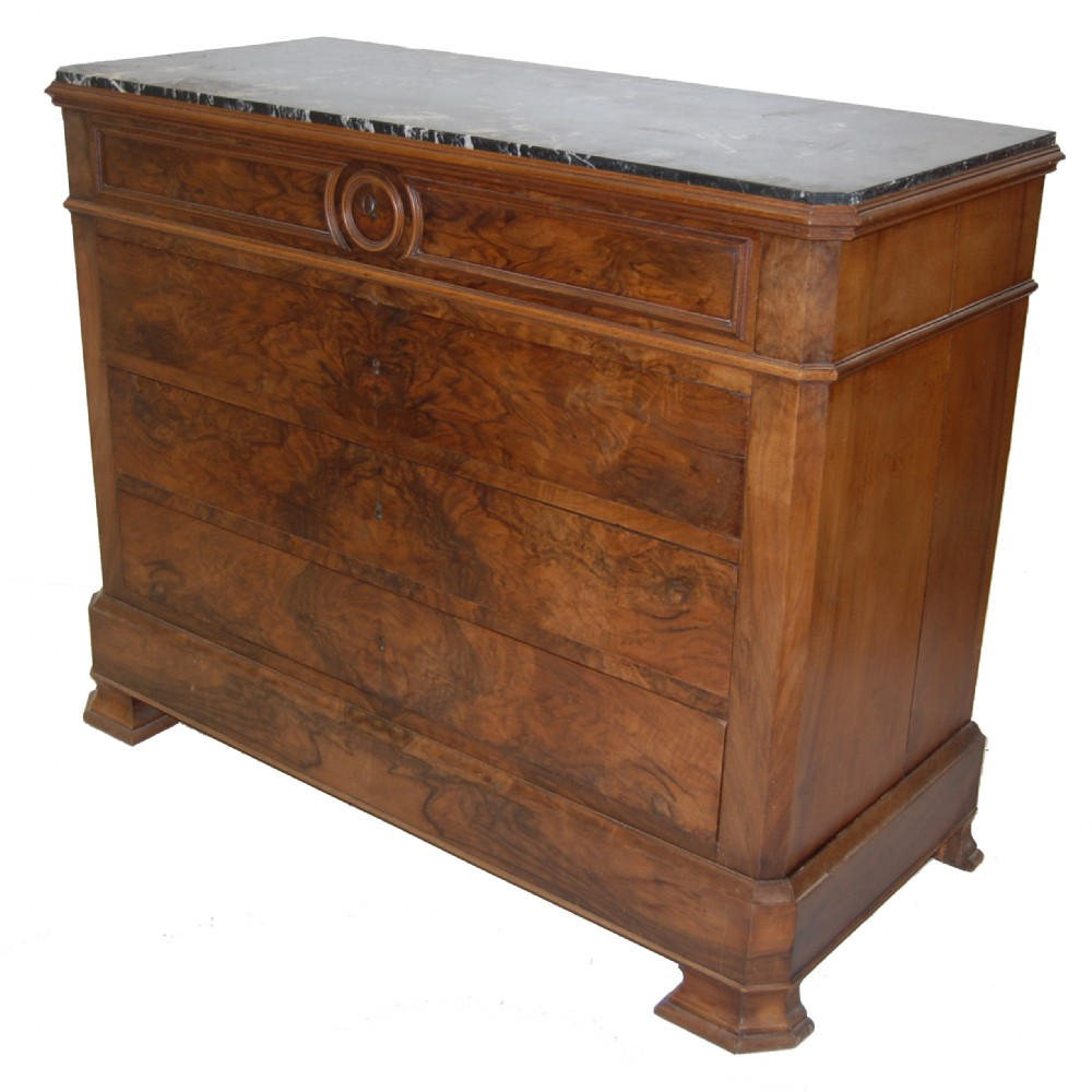 French Antique Marble Top Chest Of Drawers 253364
