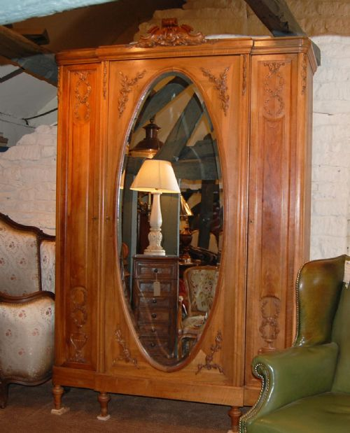 french armoire wardrobe 3 door