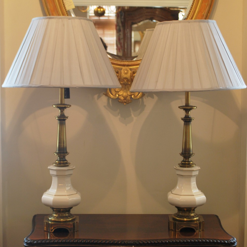 Vintage Table Lamps : Large pair of antique table lamps by stiffel