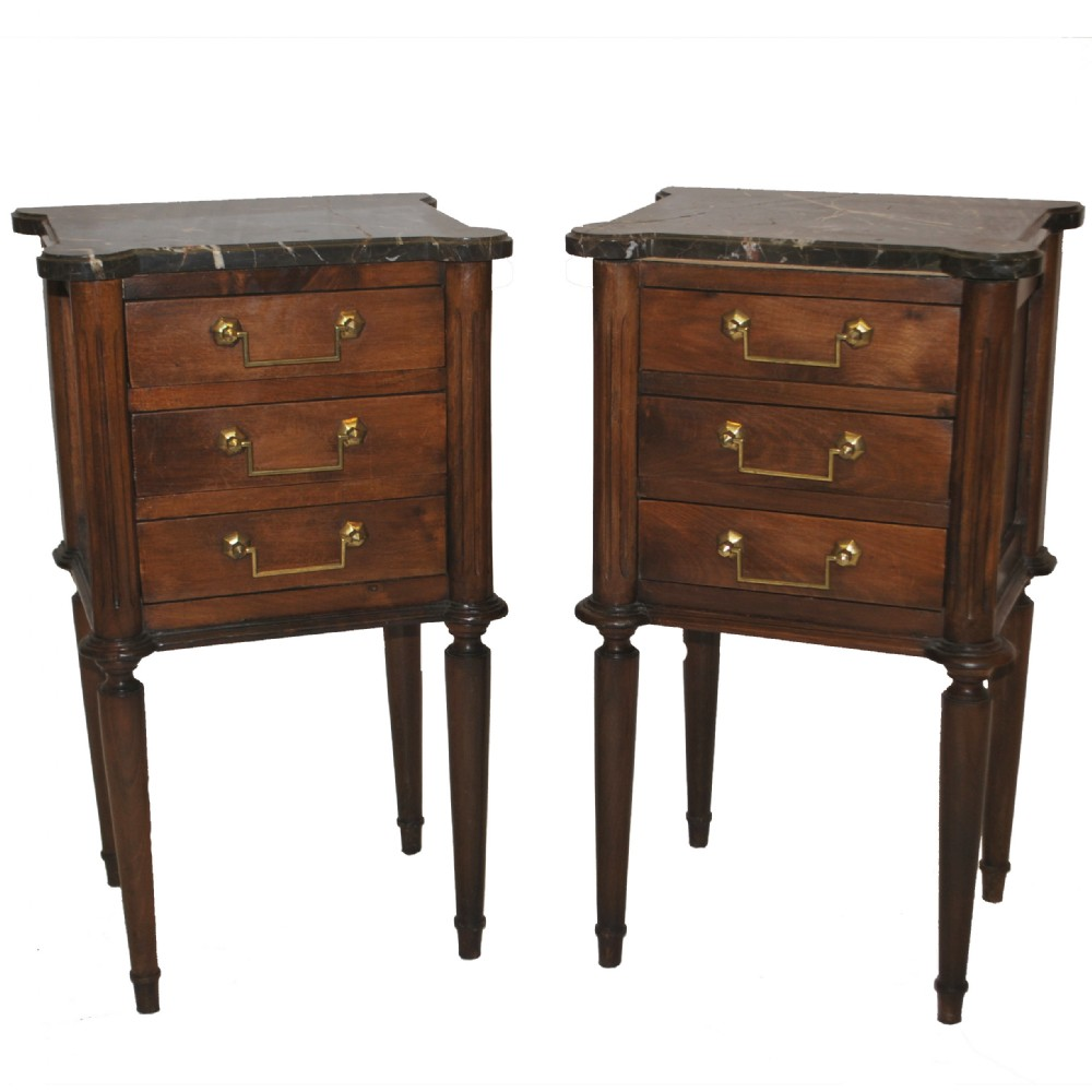 Pair of french bedside tables 250649 for 12 wide bedside table