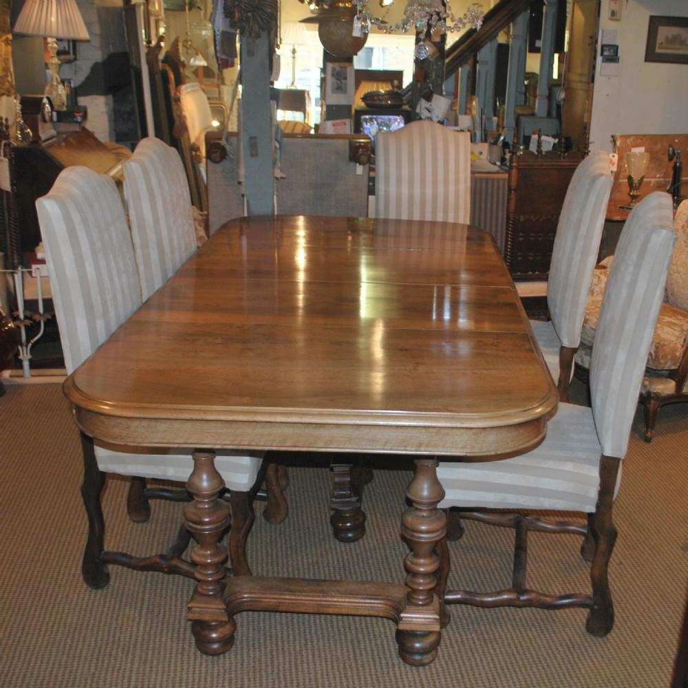 walnut henri ii style extending dining table 251794. Black Bedroom Furniture Sets. Home Design Ideas