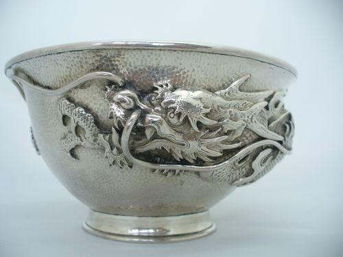 japanese antique silver bowl