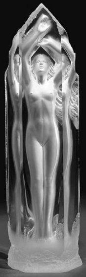 sculpture cast in acrylic michael wilkinson