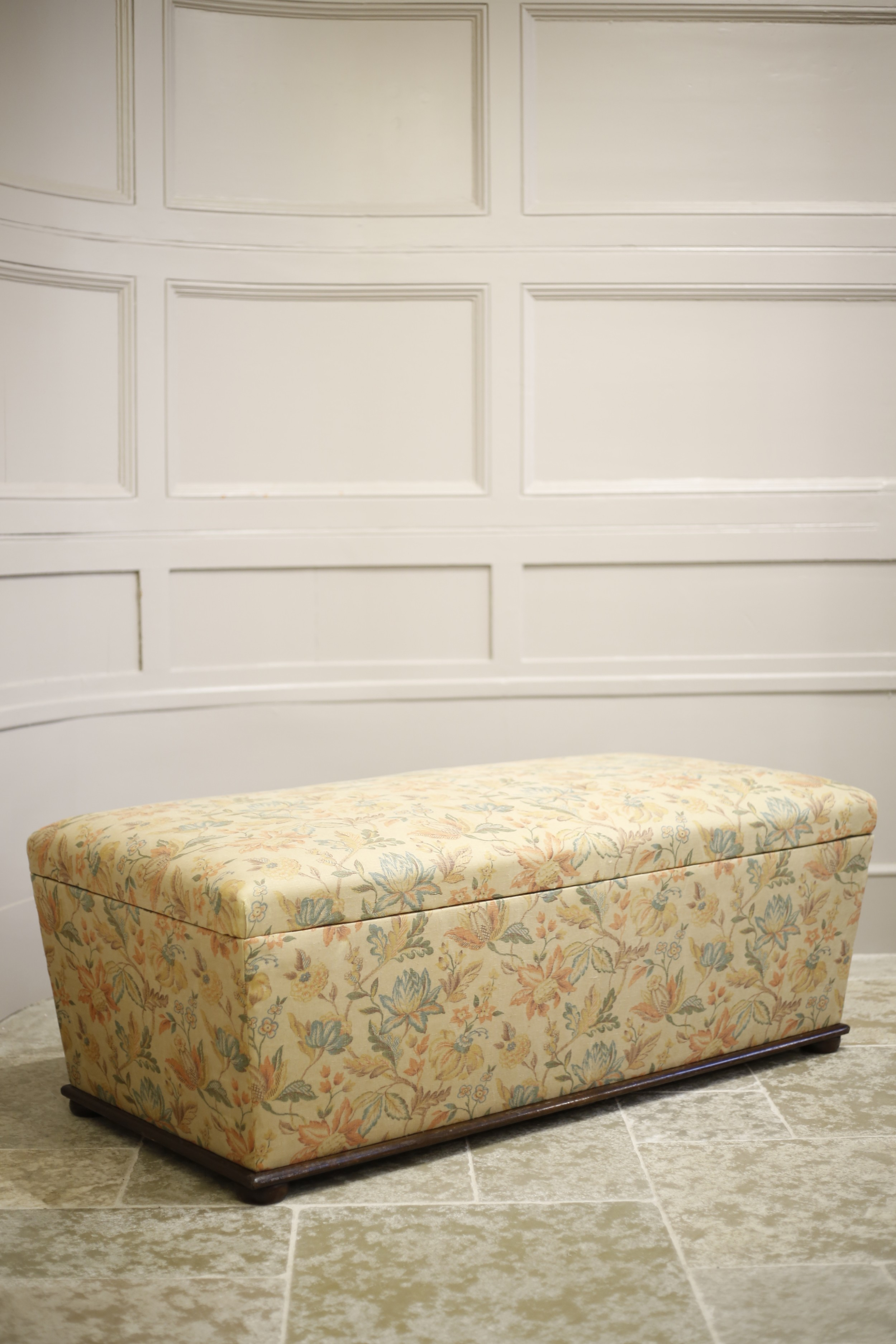 large victorian upholstered storage ottoman