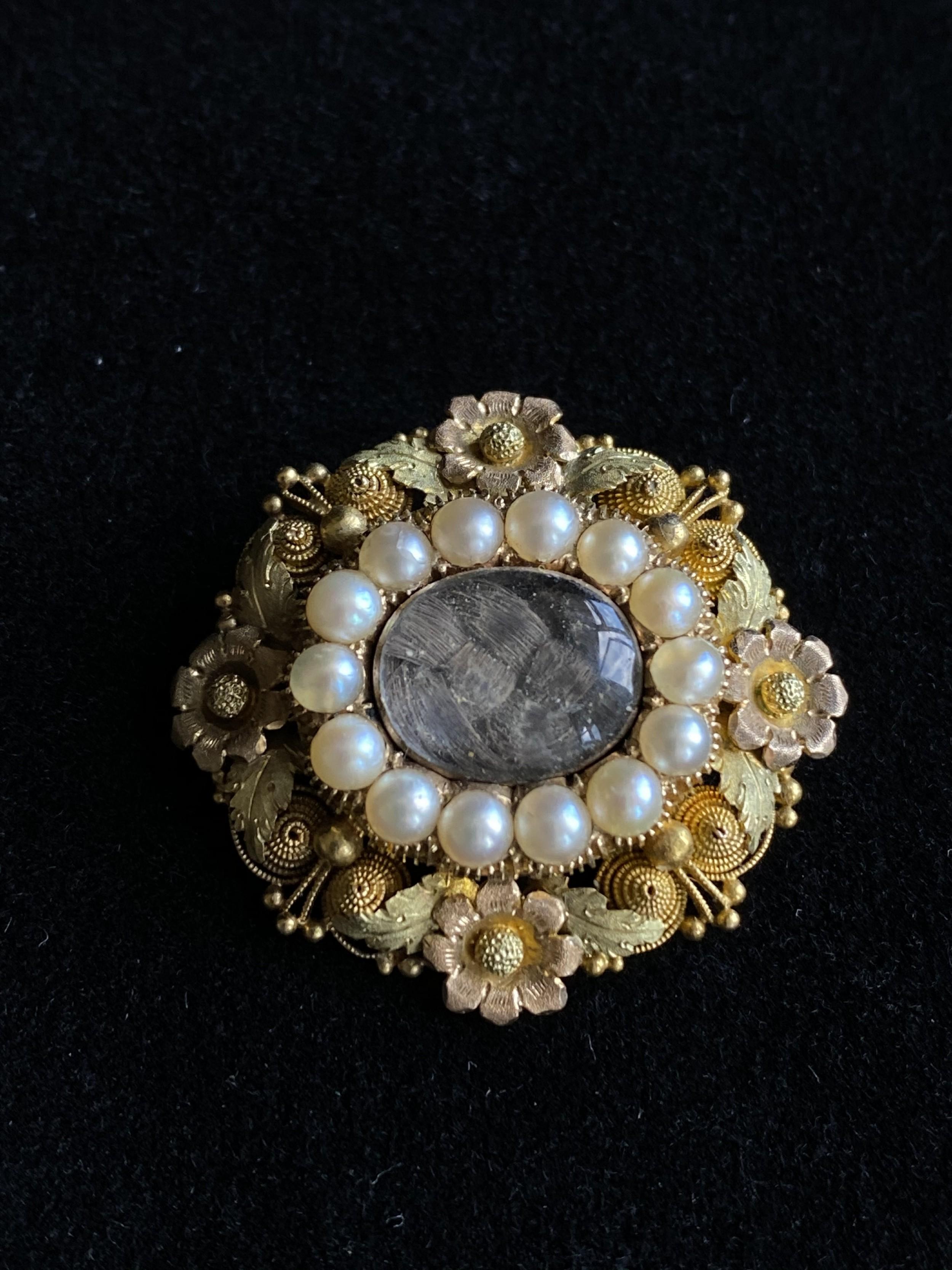 georgian inmemoriam brooch