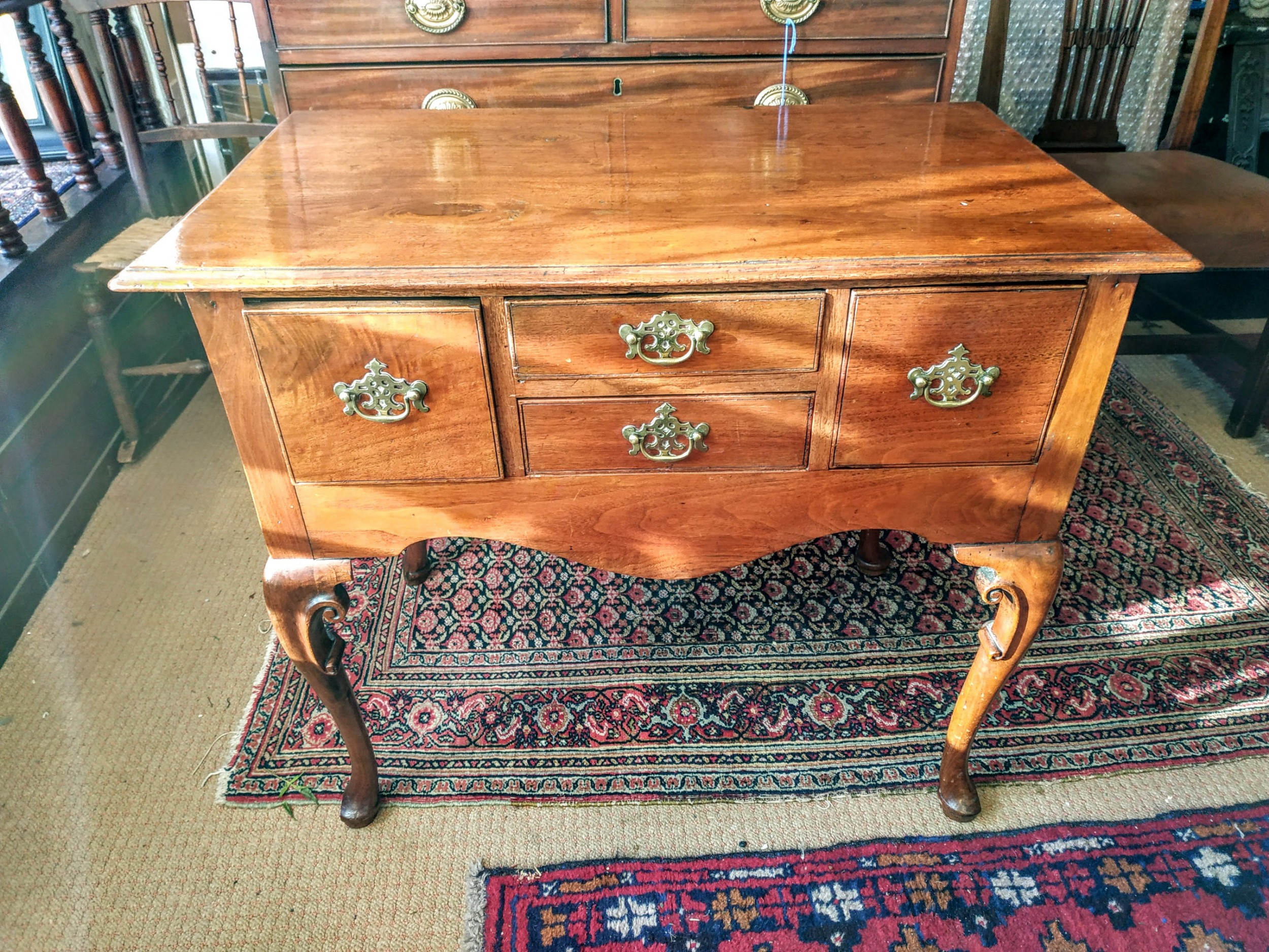 early 19th century fruitwood lowboy