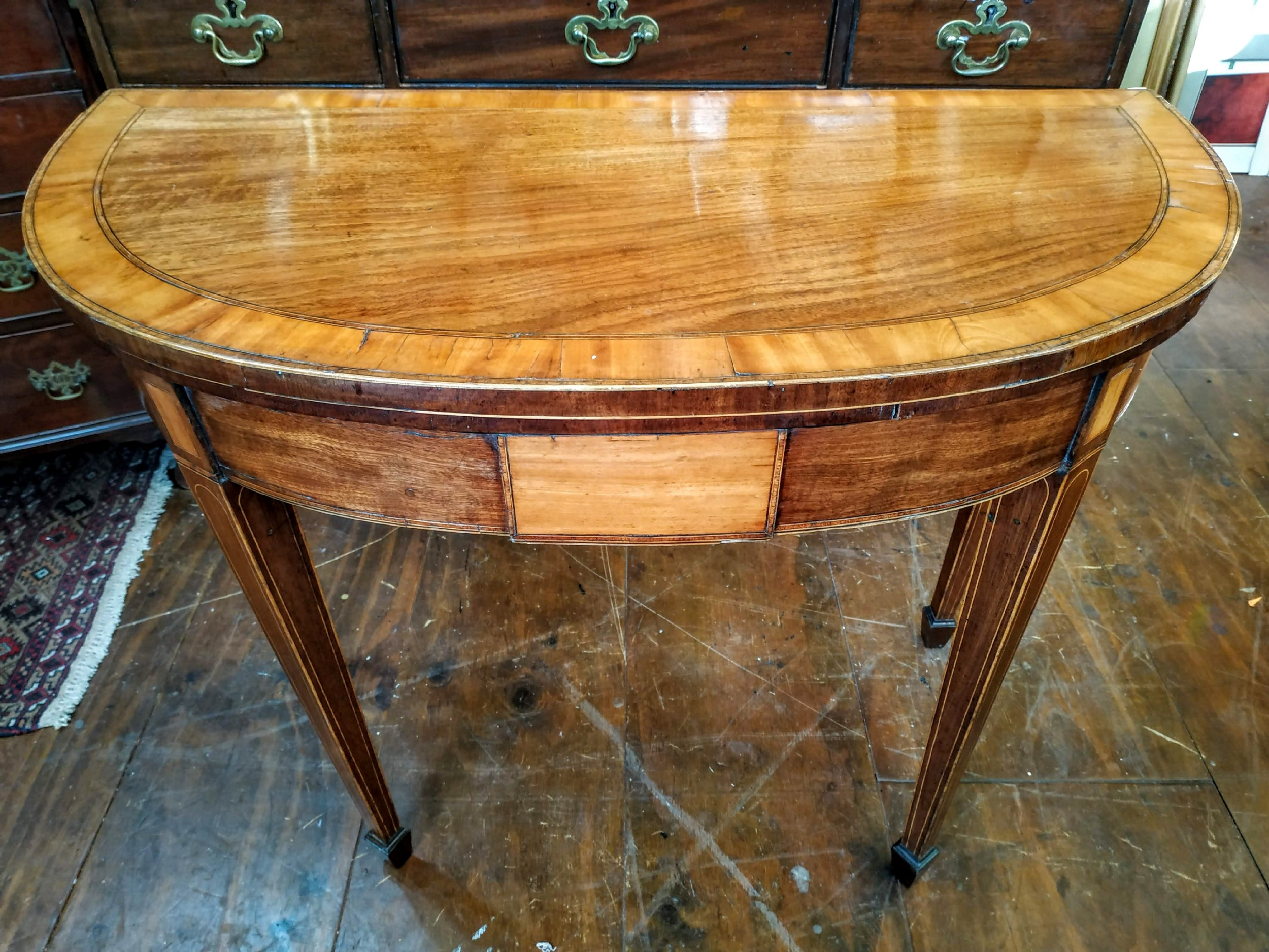 george iii mahogany turnover crossbanded games table