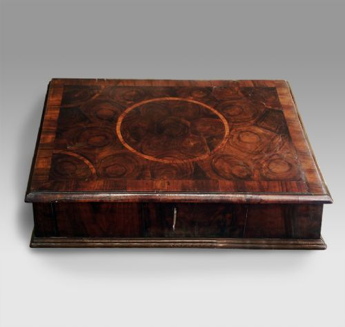 william and mary olive wood oyster veneered lace box