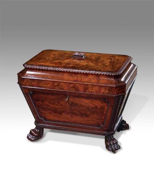 fine quality late regency mahogany cellaret