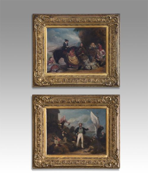 pair of 19th century oil paintings
