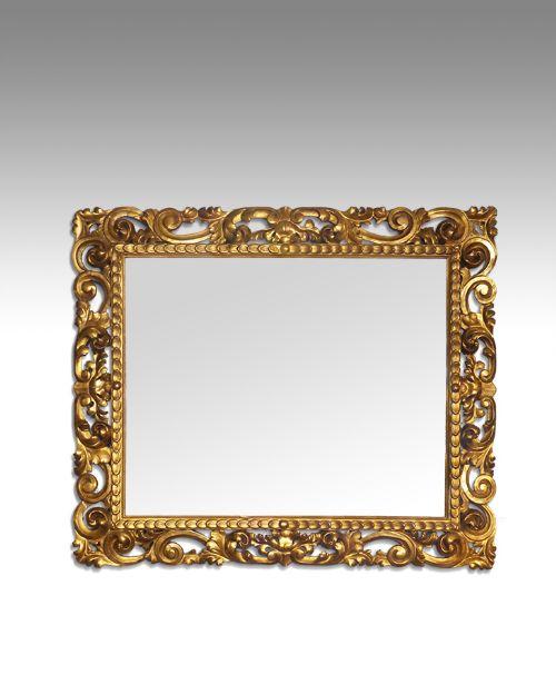 19th century carved florentine giltwood mirror