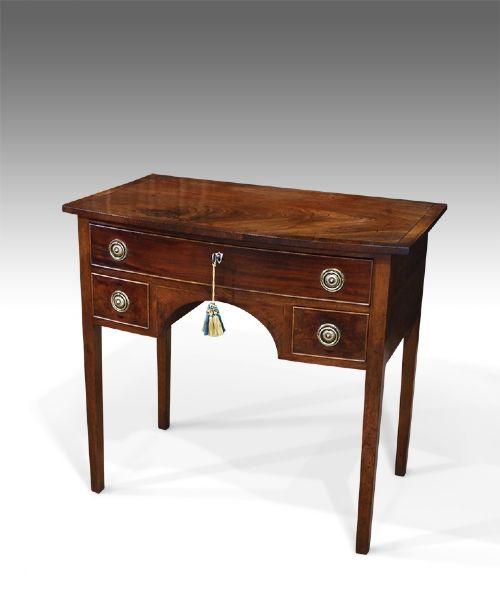 small georgian mahogany bowfront dressing table