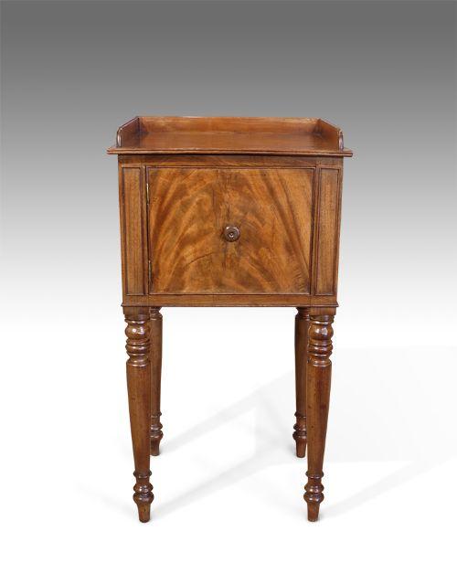 george iv faded mahogany pot cupboard