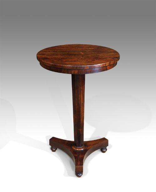 william iv rosewood pedestal lamp table