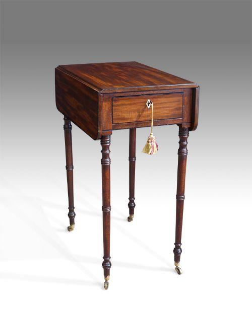 regency mahogany pembroke work table