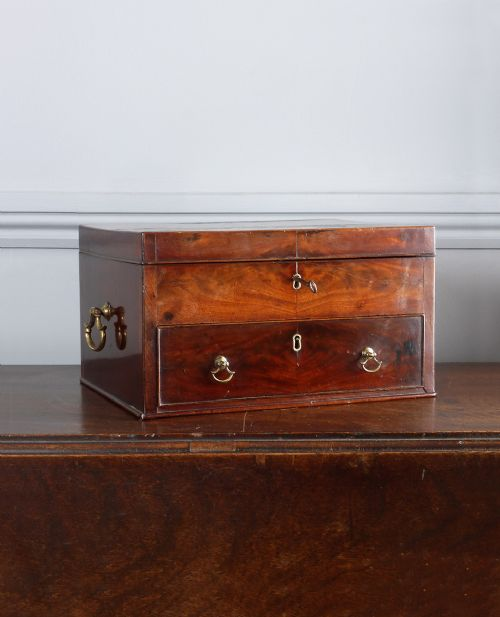 george iii figured mahogany work box