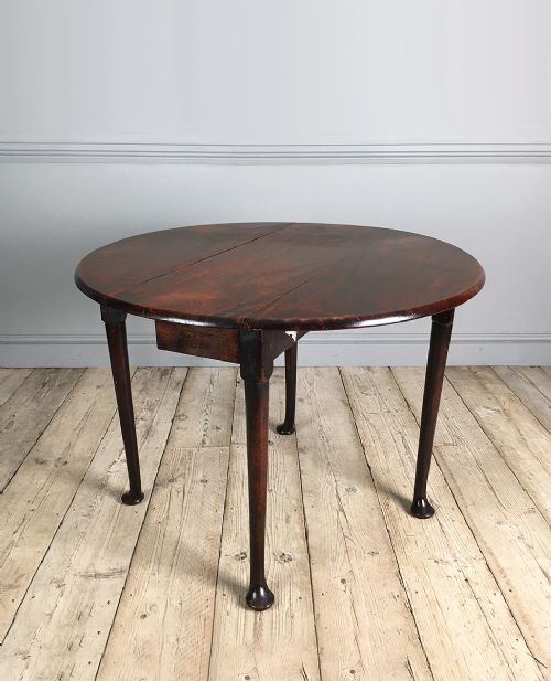 georgian mahogany pad foot drop leaf dining table