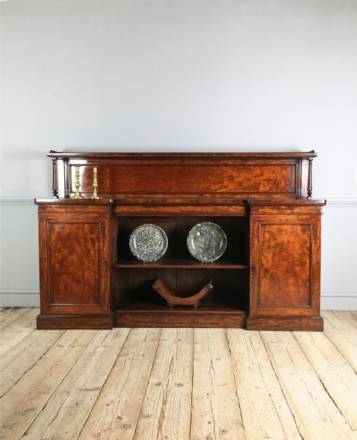 george iv figured mahogany sideboard