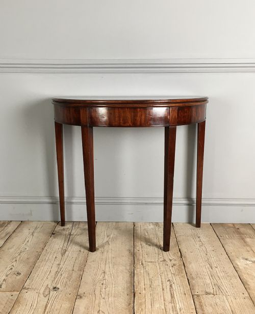 george iii mahogany demi lune tea table