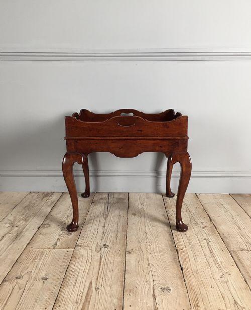 19th century mahogany tray on stand