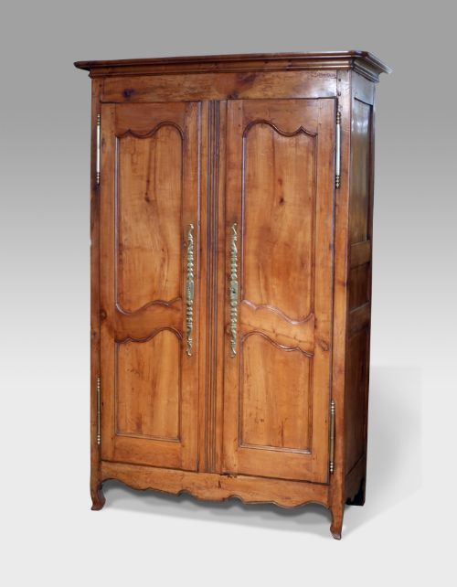 Louis xv french cherry wood armoire