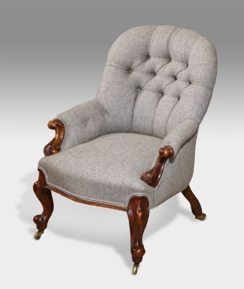 small victorian button back arm chair 263953. Black Bedroom Furniture Sets. Home Design Ideas