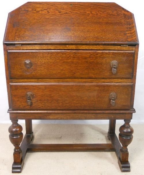 Art deco oak writing bureau desk 146888 for Deco bureau