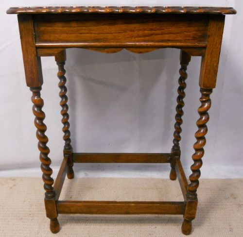 barley twist oak occasional table