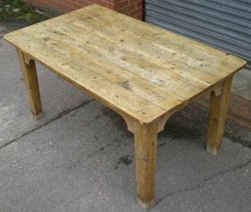 Antique Pine Kitchen Table  Sellingantiquescouk - Antique kitchen tables