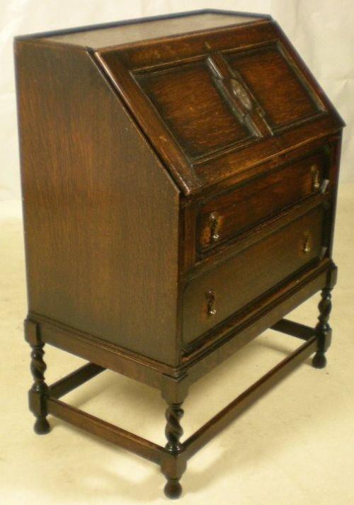 jacobean style oak writing bureau 71536 sellingantiques co uk