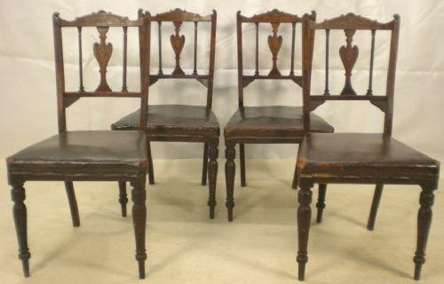 edwardian inlaid mahogany salon chairs