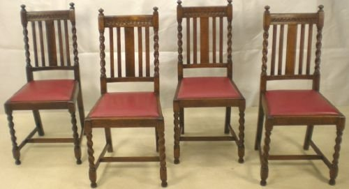 Terrific Set Of Four Barley Twist Oak Highback Dining Chairs 74936 Pabps2019 Chair Design Images Pabps2019Com