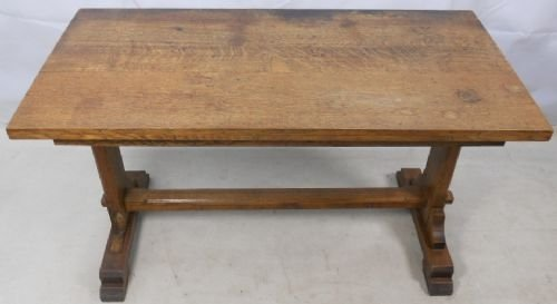 Arts Craft Period Oak Dining Table