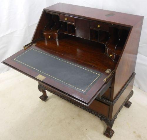 large chippendale style mahogany writing bureau
