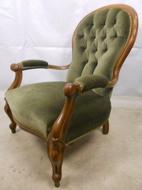 Victorian Walnut Open Arm Spoon Back Armchair | 85239 ...