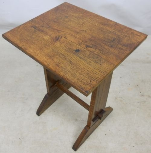 Arts Craft Small Oak Occasional Table