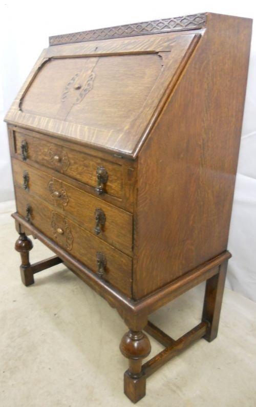 jacobean style oak writing bureau 92024. Black Bedroom Furniture Sets. Home Design Ideas