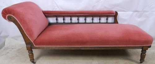 Edwardian walnut chaise longue matching armchairs for Chaise longue dwg
