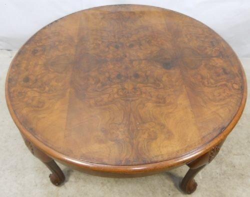 Large Round Walnut Coffee Table 93776 Sellingantiques Co Uk