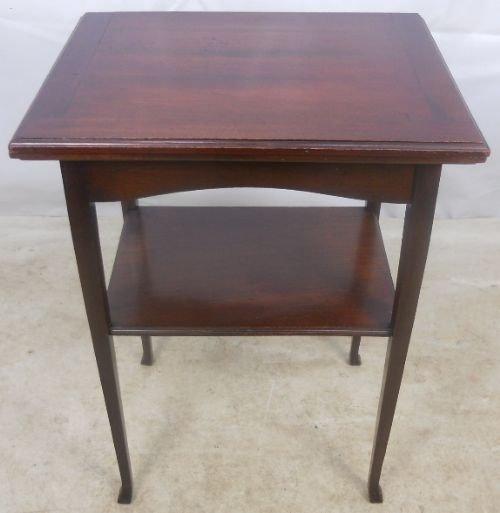 edwardian mahogany small foldover card table