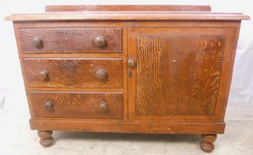 victorian pine dresser base with original paint finish