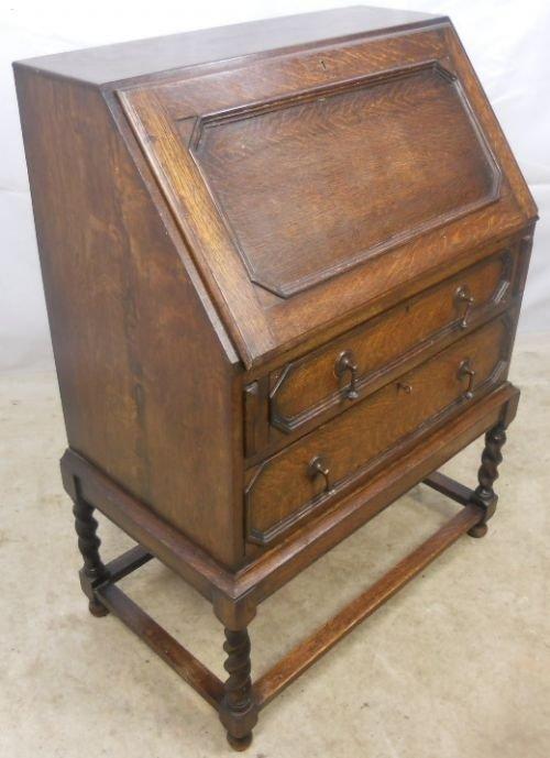 jacobean style oak writing bureau 101182. Black Bedroom Furniture Sets. Home Design Ideas