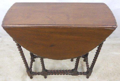 small mahogany barley twist gateleg table