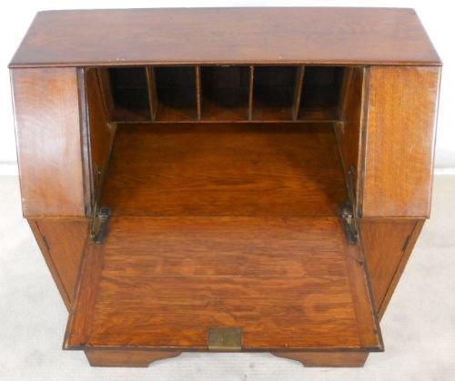 oak writing bureau desk workstation 116179. Black Bedroom Furniture Sets. Home Design Ideas