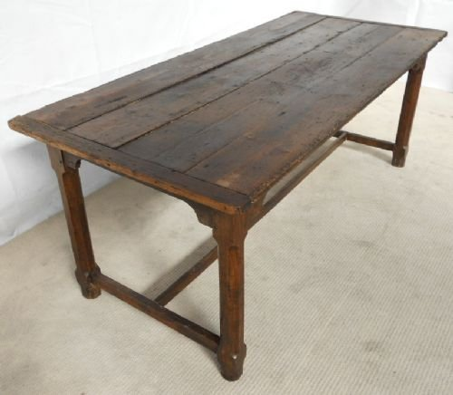 Antique Pine Oak Rustic Refectory Dining Table 118653 Sellingantiqu