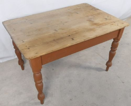 Victorian Rustic Pine Kitchen Dining Table