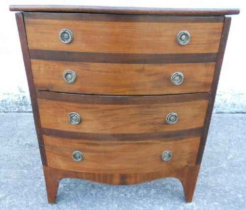victorian mahogany bowfront commode chest