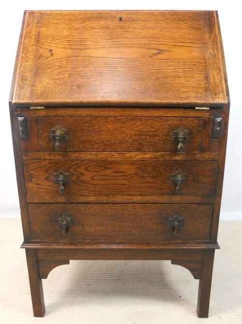 small oak writing bureau desk 150430. Black Bedroom Furniture Sets. Home Design Ideas