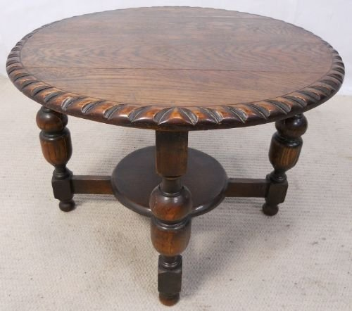 Antique Style Round Oak Coffee Table 155423